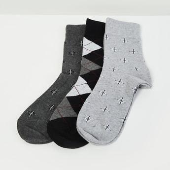 MAX Woven Design Sock- Set of 3