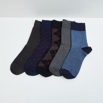 MAX Woven Design Socks - Set of 5