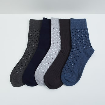 MAX Patterned Knit Socks - Pack of 5