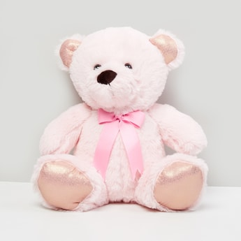 MAX Textured Ribbon Teddy Soft Toy
