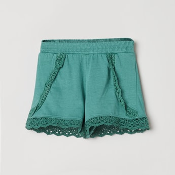 MAX Crochet Embroidered Shorts