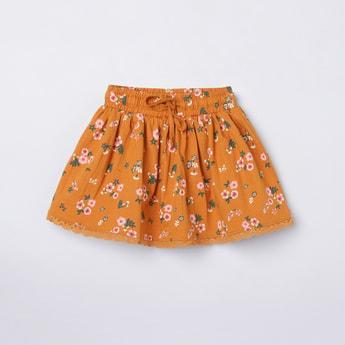 MAX Floral Print A-line Skirt