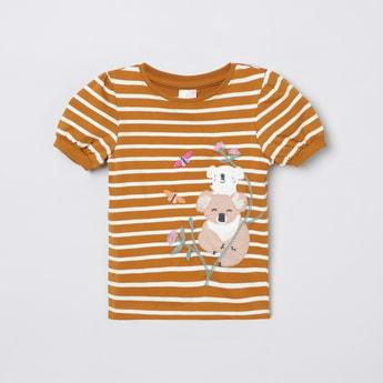 MAX Applique Detail Puffed Sleeves T-shirt