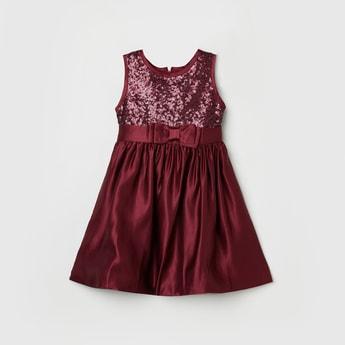 MAX Embellished Sleeveless A-line Dress