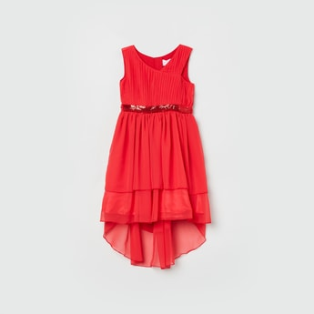 MAX Solid Sleeveless A-line Dress