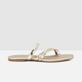 MAX Sheen Slip-On Flat Sandals