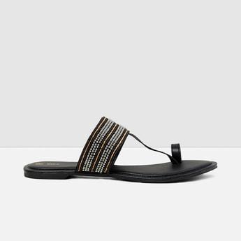 MAX Embellished Slip-On Flat Sandals