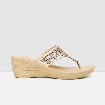 MAX Textured Open-Toe Wedges