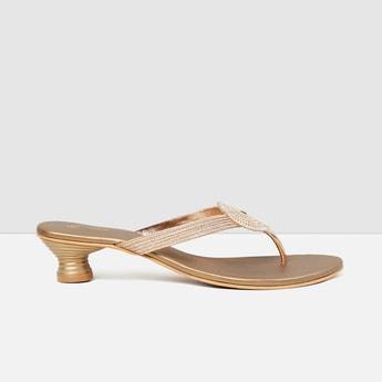 MAX Embellished Block Heel Sandals