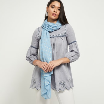 MAX Printed Scarf With Straight Hem