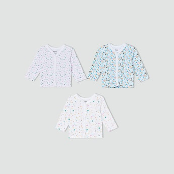 MAX Printed Buttoned Vests Combo - Pack Of 3
