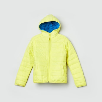 MAX Quilted Full Sleeve Hooded Bomber Jacket