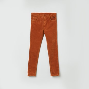 MAX Textured Woven Corduroy Trousers