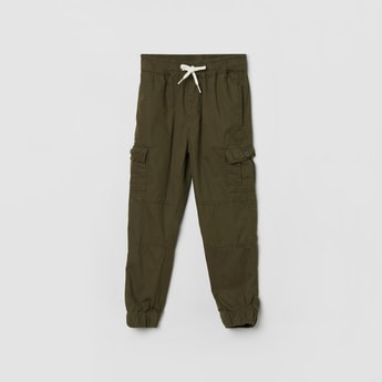 MAX Solid Elasticated Cargo Trousers