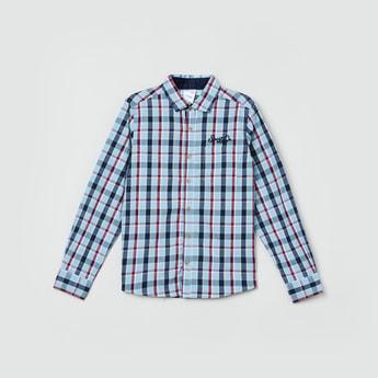 MAX Checked Spread Collar Casual Shirt