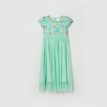 MAX Printed Empire Dress