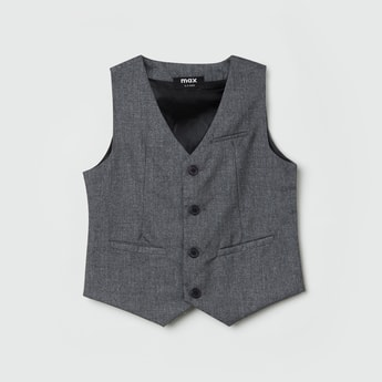 MAX Textured Sleeveless Waistcoat
