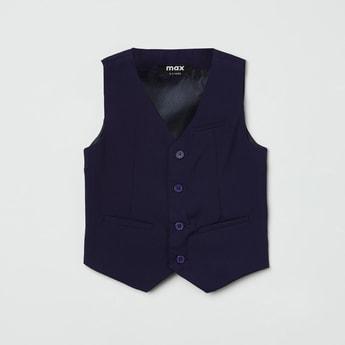 MAX Solid Sleeveless Waistcoat
