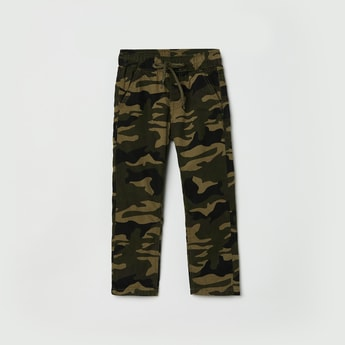 MAX Camouflage Print Full Length Woven Trousers