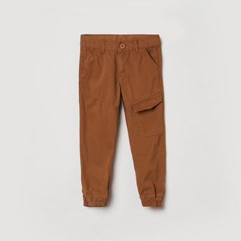 MAX Solid Flap Pocket Casual Joggers
