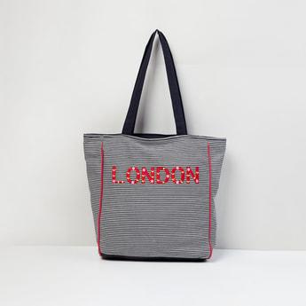 MAX Striped Tote Bag