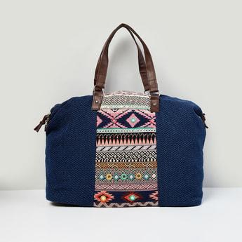 MAX Printed Zip-Closure Weekender Bag