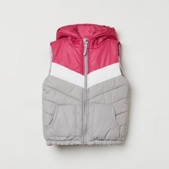 MAX Colourblocked Hooded Puffer Jacket