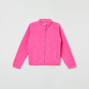 MAX Textured Mock Collar Jacket