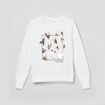 MAX Sequin Embellished Round Neck Sweatshirt