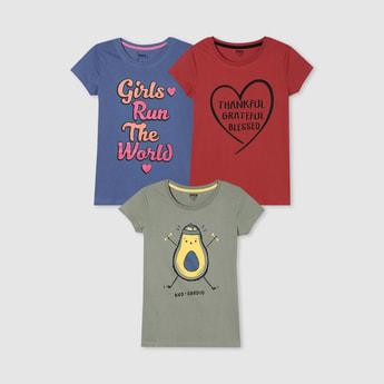 MAX Printed Round Neck T-shirt - Set of 3