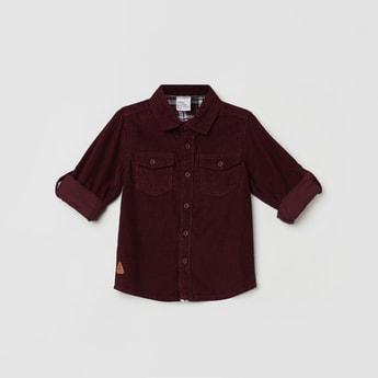 MAX Textured Full Sleeves Corduroy Shirt