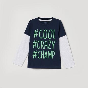 MAX Typograph Print Crew Neck T-shirt