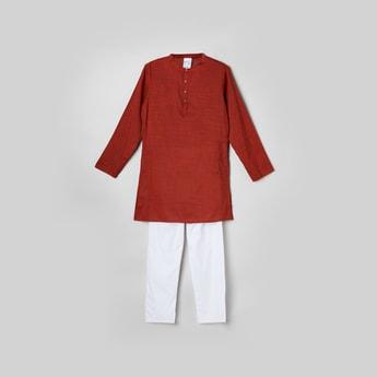 MAX Textured Kurta with Elasticated Pyjama