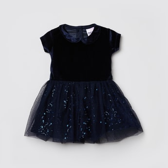 MAX Sequin Embellished Fit and Flare Dress
