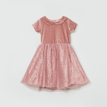 MAX Sequinned A-Line Dress