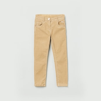 MAX Textured Corduroy Slim Fit Trousers
