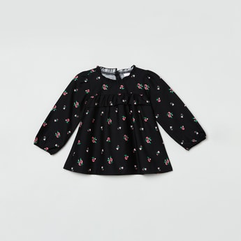 MAX Floral Printed A-Line Top