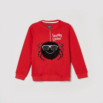 MAX Applique Crew Neck Sweatshirt