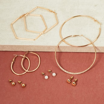 MAX Solid Earrings Combos- Set of 6