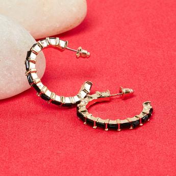 MAX Embellished Semi-Hoop Earrings