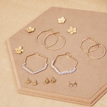 MAX Assorted Hoops and Stud Earrings - Pack of 6