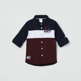 MAX Colourblocked Full Sleeves Casual Shirt