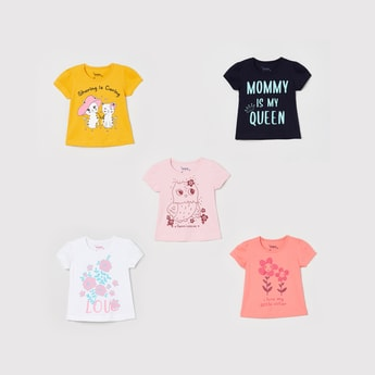 MAX Printed Round Neck T-shirt- Pack of 5