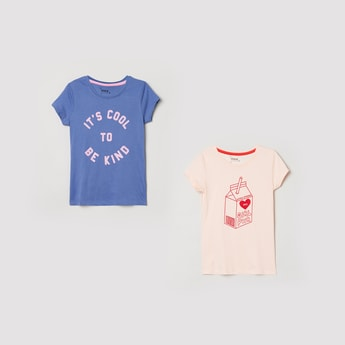 MAX Printed Round Neck T-shirt - Pack of 2