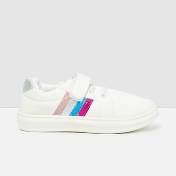 MAX Colour-Blocked Velcro-Strap Casual Shoes