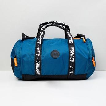 MAX Printed Zip Closure Gym Bag