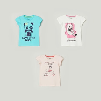 MAX Printed Round Neck T-shirt - Pack Of 3