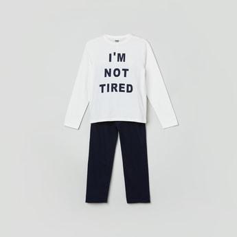 MAX Printed Full Sleeves T-shirt With Pyjama