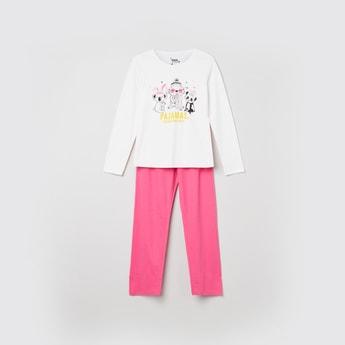 MAX Printed Full Sleeves T-shirt With Solid Pyjamas