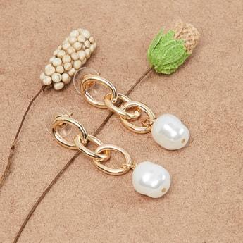 MAX Pearl Embellished Drop Earrings